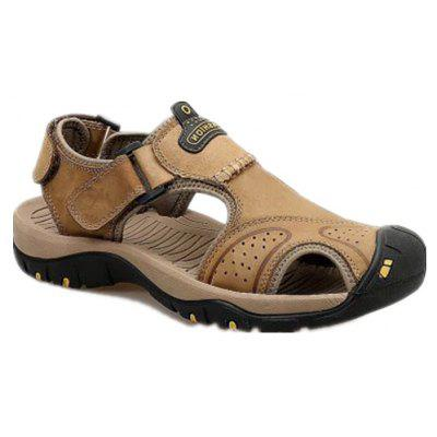 Leather Hollow Casual Sandals