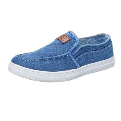 Men Lazy Canvas Deck Shoes Low-sleeve Simple Flat SneakersFlats &amp; Loafers<br>Men Lazy Canvas Deck Shoes Low-sleeve Simple Flat Sneakers<br><br>Available Size: 39 - 44<br>Closure Type: Slip-On<br>Embellishment: None<br>Gender: For Men<br>Outsole Material: Rubber<br>Package Contents: 1 x shoes (pair)<br>Pattern Type: Solid<br>Season: Summer, Spring/Fall<br>Toe Shape: Round Toe<br>Toe Style: Closed Toe<br>Upper Material: Canvas<br>Weight: 1.2000kg