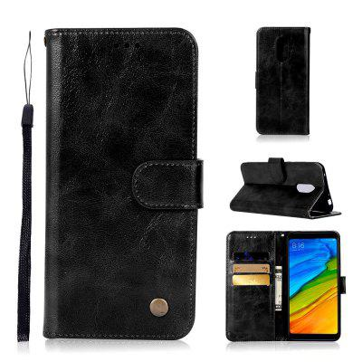Extravagant Retro Fashion Flip Leather Case For Xiaomi Redmi 5 Plus Phone Bag with Stand PU Wallet Cover Cases