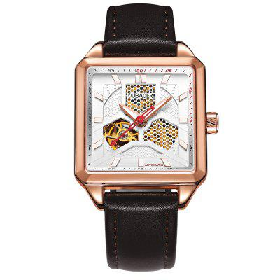 OUBAOER 2003A Square Automatic Mechanical Hollow Men Watches
