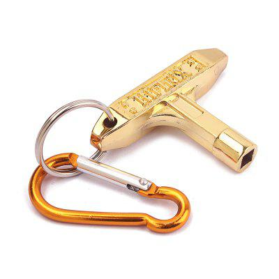 Jazz Drum Skin Tuning Key Tool Wrench with CarabinerOther Musical Instruments<br>Jazz Drum Skin Tuning Key Tool Wrench with Carabiner<br><br>Key Number: Other<br>Manner of Articulation: Other<br>Material: Metal<br>Number of Holes: Other<br>Package Contents: 1 x Drum Key<br>Package size: 7.00 x 5.00 x 2.00 cm / 2.76 x 1.97 x 0.79 inches<br>Package weight: 0.0450 kg