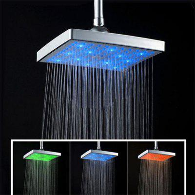 New LED Top Colorful Discoloration ShowerShower Head<br>New LED Top Colorful Discoloration Shower<br><br>Material: Plastic<br>Package Contents: 1 x Handheld Shower<br>Package size (L x W x H): 16.00 x 16.00 x 16.00 cm / 6.3 x 6.3 x 6.3 inches<br>Package weight: 0.4000 kg<br>Product size (L x W x H): 15.00 x 15.00 x 15.00 cm / 5.91 x 5.91 x 5.91 inches<br>Product weight: 0.3600 kg<br>Style: Fashion