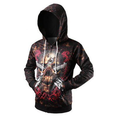 3D Skeleton Three-Dimensional Printing Personalized Cardigan Hoodie
