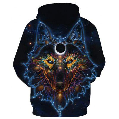 Fashion Wolf Loose HoodiesMens Hoodies &amp; Sweatshirts<br>Fashion Wolf Loose Hoodies<br><br>Material: Cotton<br>Package Contents: 1 x Hoodie<br>Shirt Length: Regular<br>Sleeve Length: Full<br>Style: Fashion<br>Weight: 0.5000kg