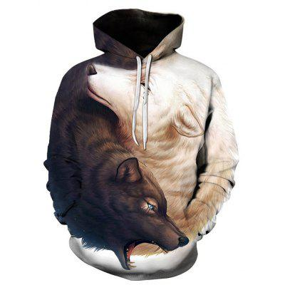 Fashion Wolf Loose Hoodies
