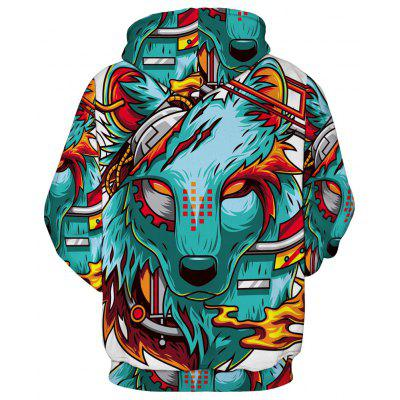 Wolf 3D Digital Printing Loose HoodieMens Hoodies &amp; Sweatshirts<br>Wolf 3D Digital Printing Loose Hoodie<br><br>Material: Cotton<br>Package Contents: 1 x Hoodie<br>Shirt Length: Regular<br>Sleeve Length: Full<br>Style: Fashion<br>Weight: 0.3900kg