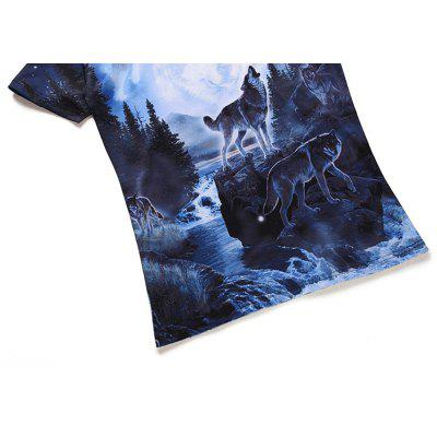 Wolf Creative Printing 3D Printing Trend T-ShirtMens Short Sleeve Tees<br>Wolf Creative Printing 3D Printing Trend T-Shirt<br><br>Collar: Round Neck<br>Material: Cotton, Polyester<br>Package Contents: 1 x T-shirt<br>Pattern Type: Animal<br>Sleeve Length: Short Sleeves<br>Style: Casual<br>Weight: 0.2300kg