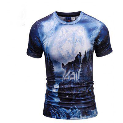 Wolf Creative Printing 3D Printing Trend T-Shirt