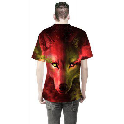 Fashion Wolf Pattern Digital Printing Short-Sleeved T-ShirtMens Short Sleeve Tees<br>Fashion Wolf Pattern Digital Printing Short-Sleeved T-Shirt<br><br>Collar: Round Neck<br>Material: Cotton<br>Package Contents: 1 x T-shirt<br>Pattern Type: Animal<br>Sleeve Length: Short<br>Style: Fashion<br>Weight: 0.3000kg