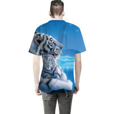 White Tiger 3D Digital Printing T-ShirtMens Short Sleeve Tees<br>White Tiger 3D Digital Printing T-Shirt<br><br>Collar: Round Neck<br>Material: Cotton<br>Package Contents: 1 x T-shirt<br>Pattern Type: Animal<br>Sleeve Length: Short Sleeves<br>Style: Fashion<br>Weight: 0.3000kg