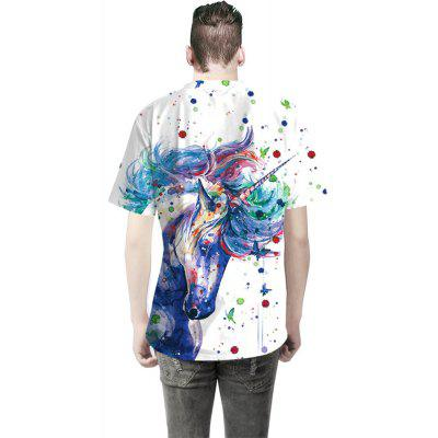 Watercolor Unicorn Digital Printing T-ShirtMens Short Sleeve Tees<br>Watercolor Unicorn Digital Printing T-Shirt<br><br>Collar: Round Neck<br>Material: Cotton<br>Package Contents: 1 x T-shirt<br>Pattern Type: Print<br>Sleeve Length: Short Sleeves<br>Style: Fashion<br>Weight: 0.3000kg