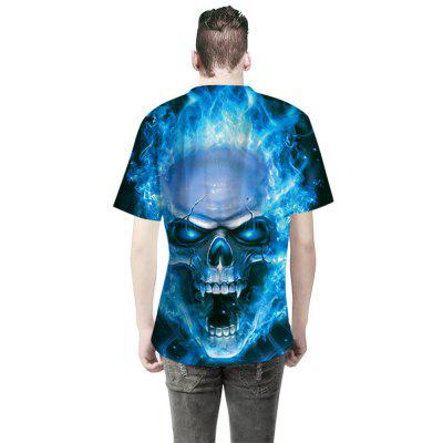 Skull Digital Printing Fashion T-ShirtMens Short Sleeve Tees<br>Skull Digital Printing Fashion T-Shirt<br><br>Collar: Round Neck<br>Material: Cotton<br>Package Contents: 1 x T-shirt<br>Pattern Type: Skulls<br>Sleeve Length: Short Sleeves<br>Style: Fashion<br>Weight: 0.3000kg