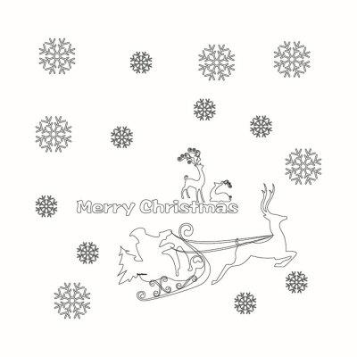 Christmas Window Decoration Wall Stickers