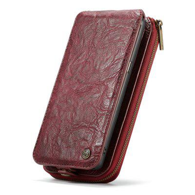 CaseMe for Samsung Galaxy Note 8 Zipper Wallet PU Case Multifunctional 15 ID 2 Cash Slots Upright Open Detachable Cover