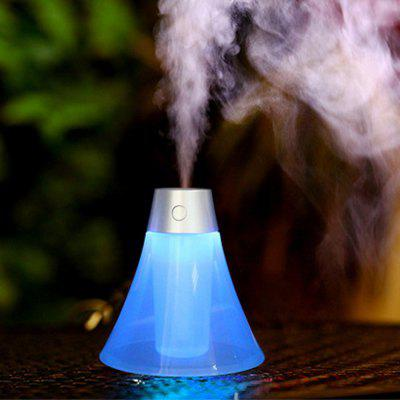 Creative Volcano Shape Mute Mini Household Office Humidifier With LED Blue