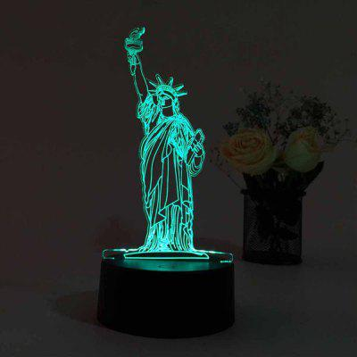 3D USB Touch And Control 7 Colour Night Light Bedroom Bedside LED Lamp