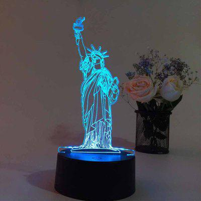 3D  Remote Control Board USB Touch 7 Color Night Light LED Bedroom Bedside Lamp