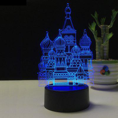 3D Castle Night Light Plug LED Stereo Bedroom Bedside Lamp3D Lamps<br>3D Castle Night Light Plug LED Stereo Bedroom Bedside Lamp<br><br>Available Light Color: Red,Blue,Purple<br>Material: Acrylic, ABS<br>Package Contents: 1 x Acrylic Plate,1 x ABS Base,1 x Switch Button Plug Line<br>Package size (L x W x H): 22.50 x 14.50 x 5.50 cm / 8.86 x 5.71 x 2.17 inches<br>Package weight: 0.3750 kg<br>Product size (L x W x H): 12.80 x 9.60 x 22.40 cm / 5.04 x 3.78 x 8.82 inches<br>Product weight: 0.3000 kg<br>Suitable for: Home, Holiday Decoration, Party, Exhibition, Night Light, Home Decoration