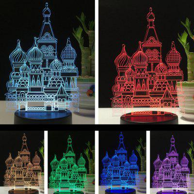 3D Castle USB Touch And Control 7 Colour Night Light Bedroom Bedside LED Lamp3D Lamps<br>3D Castle USB Touch And Control 7 Colour Night Light Bedroom Bedside LED Lamp<br><br>Available Light Color: RGB<br>Material: Acrylic, ABS<br>Package Contents: 1 x Acrylic Plate,1 x ABS Base,1 x USB Cable,1 x English Instruction Manual<br>Package size (L x W x H): 22.50 x 14.50 x 5.50 cm / 8.86 x 5.71 x 2.17 inches<br>Package weight: 0.3000 kg<br>Product size (L x W x H): 12.80 x 9.60 x 22.40 cm / 5.04 x 3.78 x 8.82 inches<br>Product weight: 0.2250 kg<br>Suitable for: Holiday Decoration, Home Decoration, Exhibition, Night Light, Home, Party<br>Wattage: 3W