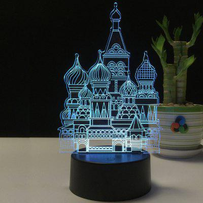 3D Castle USB Touch And Control 7 Colour Night Light Bedroom Bedside LED Lamp