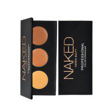 HERES B2UTY 3Colors Concealer Professional Face Concealer Cream Contour Palette Makeup Highlighter Camouflage