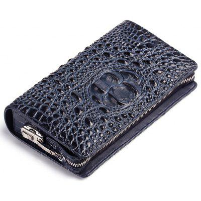 Genuine Leather Clutch Bag For Men Zipper Design Male  Brand Design Men's Phone Holder  RFID Blocking