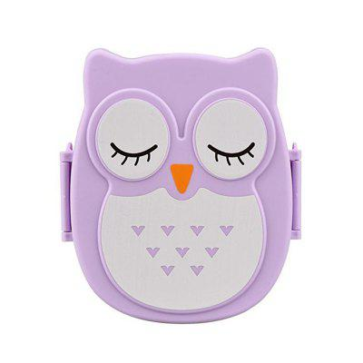 Owl Lunch Food Container Storage Box Portable