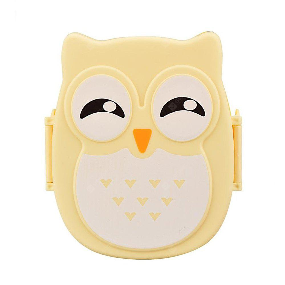 Owl Lunch Food Container Storage Box Portable YELLOW