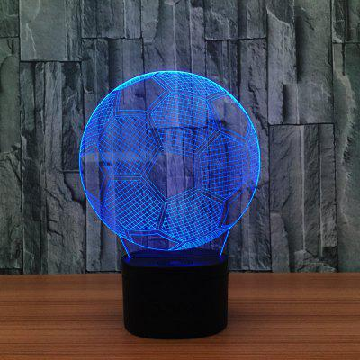 Creative Football 3D LED Illusion Night Light Touch 7 Color Table Desk Lamp