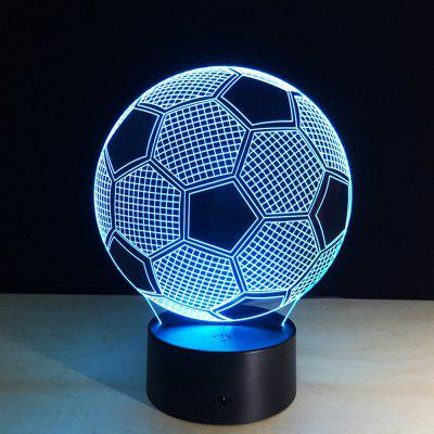 Creative Football 3D LED Illusion Night Light Touch 7 Color Table Desk LampDecorative Lights<br>Creative Football 3D LED Illusion Night Light Touch 7 Color Table Desk Lamp<br><br>Package Contents: 1x acrylic lamp plate,1x base, 1x usb cable, 1 x Chinese and English Manual<br>Package size (L x W x H): 21.00 x 15.00 x 6.00 cm / 8.27 x 5.91 x 2.36 inches<br>Package weight: 0.4000 kg