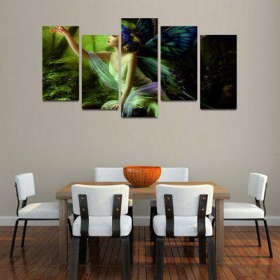MailingArt F047 5 Panels Landscape Wall Art Painting Home Decor Canvas  Print ...
