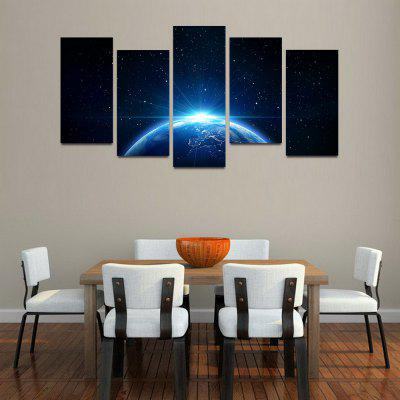 MailingArt F052 5 Panels Landscape Wall Art Painting Home Decor Canvas Print