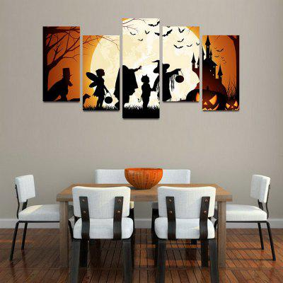 MailingArt F057 5 Panels Landscape Wall Art Painting Home Decor Canvas Print