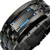 Fashion Stainless Steel LED Digital Waterproof Wrist Watches - BLACK