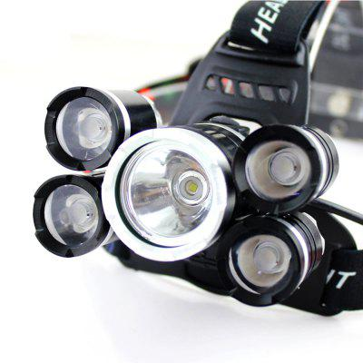 YWXLight RJ-6000 LED Headlamp Waterproof switch for Camping Travel WalkingHeadlights<br>YWXLight RJ-6000 LED Headlamp Waterproof switch for Camping Travel Walking<br><br>Available Light Color: White<br>Battery Included or Not: No<br>Battery Quantity: 2 x 18650 Lithium Battery<br>Battery Type: 18650<br>Body Material: Aviation Aluminum<br>Color: Black<br>Color Temperature: 2800 - 3000 LM<br>Emitters: Cree XML-T6<br>Emitters Quantity: 5<br>Feature: Blinking, Headlamp, Lotus Head, Portable, Waterproof<br>Flashlight size: Full Size<br>Flashlight Type: Safety,Handheld<br>Function: Rescue, Diving/boating, Seeking Survival, Exploring, Night Riding, Walking, Work, Emergency, Backpacking, Bike<br>LED Lifespan: ?100000 Hours<br>Light color: White light<br>Light Modes: Turbo<br>Lumens Range: &gt;3000 Lumens<br>Mode: 4(Low - Mid - High - Strobe)<br>Package Contents: 1 x YWXLight Headlamp<br>Package size (L x W x H): 12.60 x 11.70 x 5.00 cm / 4.96 x 4.61 x 1.97 inches<br>Package weight: 0.2550 kg<br>Power Source: Battery,Battery<br>Product size (L x W x H): 9.50 x 8.00 x 4.70 cm / 3.74 x 3.15 x 1.85 inches<br>Product weight: 0.2100 kg<br>Switch Location: Head<br>Waterproof Standard: IPX-6 Standard Waterproof<br>Zooming Function: No