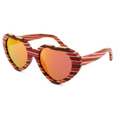 Fashion Color Film Bamboo Glasses Love Color Stripe Sunglasses Peach Heart Polarized  3006Mens Sunglasses<br>Fashion Color Film Bamboo Glasses Love Color Stripe Sunglasses Peach Heart Polarized  3006<br><br>Frame material: Wooden<br>Gender: Unisex<br>Group: Adult<br>Lens material: CR-39<br>Package Contents: 1 x Pair of Sunglasses<br>Package size (L x W x H): 14.00 x 13.50 x 4.50 cm / 5.51 x 5.31 x 1.77 inches<br>Package weight: 0.0500 kg<br>Style: Oval