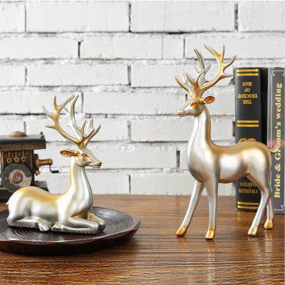 Novel Creative Resin Home Decorative Couples Against DeerCrafts<br>Novel Creative Resin Home Decorative Couples Against Deer<br><br>Material: Resin<br>Package Contents: 2 x Deers<br>Package size (L x W x H): 40.00 x 15.00 x 37.00 cm / 15.75 x 5.91 x 14.57 inches<br>Package weight: 0.9000 kg<br>Subjects: Fashion,Animal<br>Usage: Christmas, Birthday, Wedding, Party, Others, New Year