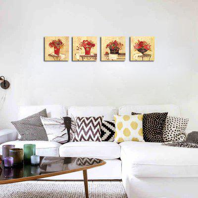 QiaoJiaHuaYuan Frameless Canvas Sitting Room Sofa Potted Flower Adornment 4PCSPrints<br>QiaoJiaHuaYuan Frameless Canvas Sitting Room Sofa Potted Flower Adornment 4PCS<br><br>Brand: Qiaojiahuayuan<br>Craft: Print<br>Form: Four Panels<br>Material: Canvas<br>Package Contents: 4 x Print<br>Package size (L x W x H): 47.00 x 5.00 x 5.00 cm / 18.5 x 1.97 x 1.97 inches<br>Package weight: 0.2000 kg<br>Painting: Without Inner Frame<br>Product weight: 0.2000 kg<br>Shape: Square<br>Style: Beads<br>Subjects: Botanical<br>Suitable Space: Living Room