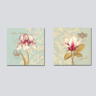Buy COLORMIX 50CMX50CMX2 QiaoJiaHuaYuan No Frame Canvas Living Room Bedroom Background Simple Flower Decoration for $13.94 in GearBest store