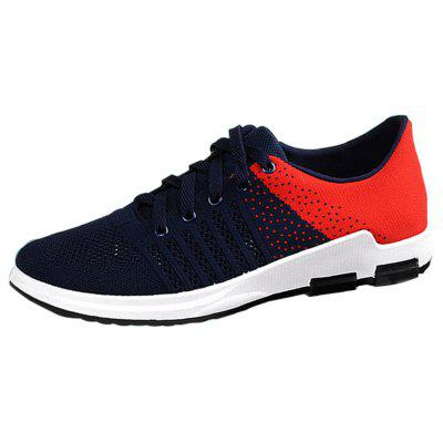 Men Wild Breathable Shoes Fashion  Mesh Hollow Running SneakersMen's Sneakers<br>Men Wild Breathable Shoes Fashion  Mesh Hollow Running Sneakers<br><br>Available Size: 40 - 44<br>Closure Type: Lace-Up<br>Feature: Breathable<br>Gender: For Men<br>Main material: Mesh<br>Outsole Material: Rubber<br>Package Contents: 1 x Sports Shoes (pair)<br>Package Size(L x W x H): 30.00 x 20.00 x 10.00 cm / 11.81 x 7.87 x 3.94 inches<br>Package weight: 0.8000 kg<br>Pattern Type: Others<br>Season: Spring/Fall<br>Upper Material: Cotton Fabric