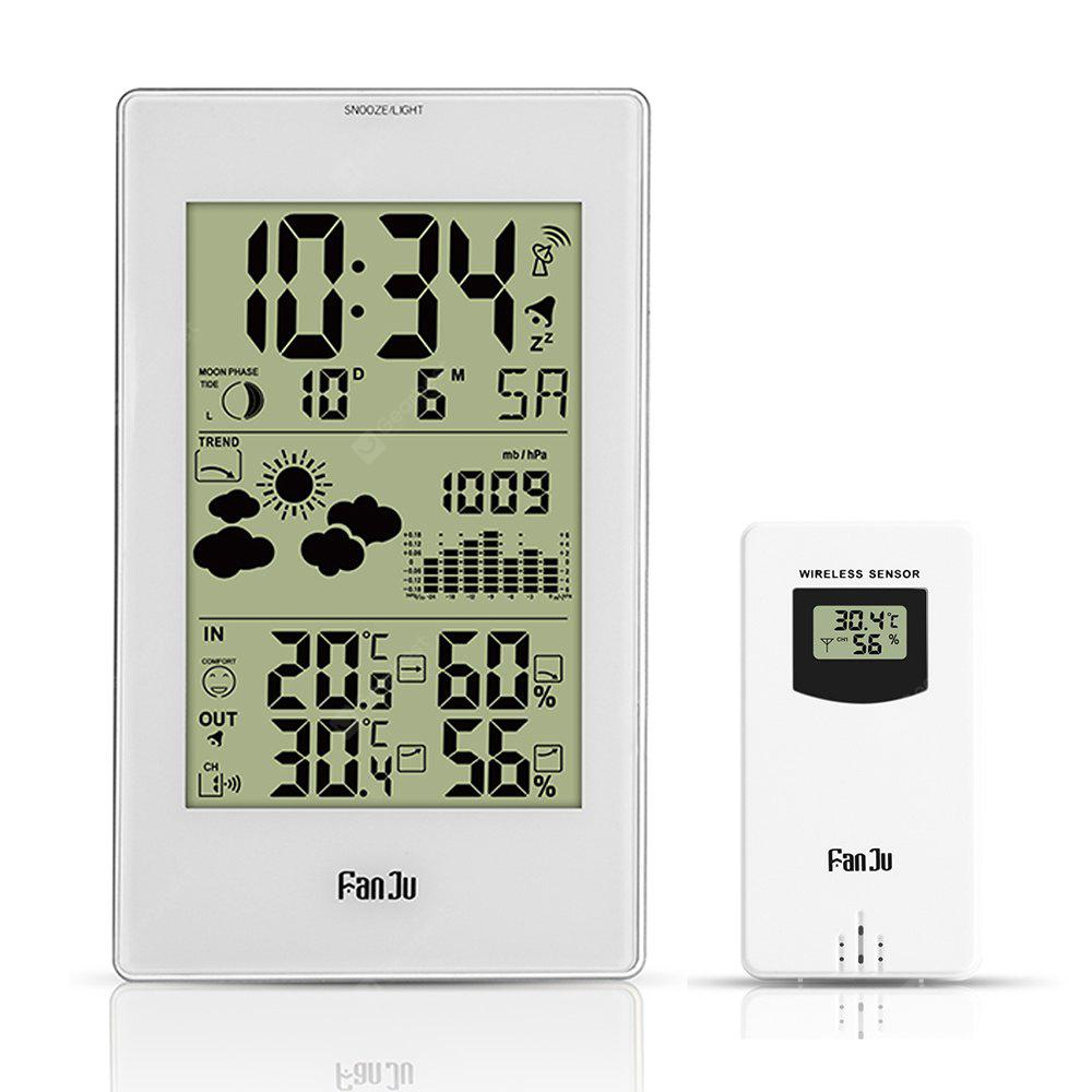 FanJu FJ3352 Weather Station 10-in-1 Functions with Barometer/Temperature/HumidityAtomic Clock/Moon Phase