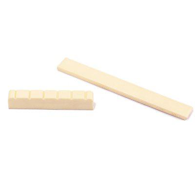 Nut and Bridge Saddle for Classical Guitar AccessoryGuitar Parts<br>Nut and Bridge Saddle for Classical Guitar Accessory<br><br>Materials: Plastic<br>Package Contents: 1 x Saddle , 1 x Nut<br>Package size: 9.00 x 7.00 x 1.00 cm / 3.54 x 2.76 x 0.39 inches<br>Package weight: 0.0055 kg<br>Suitable for: Classical Guitar<br>Type: Other