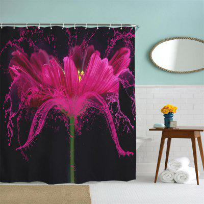 Flower Splash Polyester Shower Curtain Bathroom  High Definition 3D Printing Water-ProofOther Bathroom Accessories<br>Flower Splash Polyester Shower Curtain Bathroom  High Definition 3D Printing Water-Proof<br><br>Package Contents: 1 x Shower Curtain , 1 x Set of Hooks<br>Package size (L x W x H): 26.00 x 18.00 x 3.00 cm / 10.24 x 7.09 x 1.18 inches<br>Package weight: 0.4500 kg