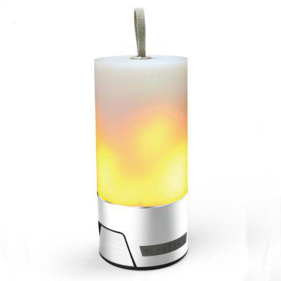 Color LED Flicker Dancing Flame Light Speaker Bluetooth Stereo Outdoor Portable