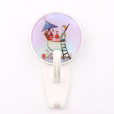 Cartoon Creative Sucker Plastic Hook Can Be Repeatedly Used Super Load Bearing 5KG