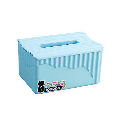 Simple Modern Living Room Napkin Storage Box PlasticStorage Boxes &amp; Bins<br>Simple Modern Living Room Napkin Storage Box Plastic<br><br>Functions: Living Room, Bathroom<br>Materials: PP<br>Package Contents: 1 x  Tissue Box<br>Package Size(L x W x H): 18.50 x 13.50 x 10.50 cm / 7.28 x 5.31 x 4.13 inches<br>Package weight: 0.1000 kg<br>Types: Storage Bags, Storage Boxes and Bins