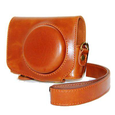 PU Leather Camera Case Bag Cover for Canon PowerShot G7 X Mark II G7X2