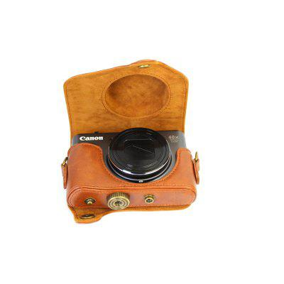 PU Leather Camera Case Bag Cover for Canon PowerShot SX730 SX720 HSCamera Bags<br>PU Leather Camera Case Bag Cover for Canon PowerShot SX730 SX720 HS<br><br>Applicable models: Canon PowerShot SX730 SX720 HS<br>Package Contents: 1 x Camera Case , 1 x Shoulder Strap<br>Package size (L x W x H): 14.00 x 12.00 x 5.50 cm / 5.51 x 4.72 x 2.17 inches<br>Package weight: 0.1250 kg<br>Product size (L x W x H): 13.50 x 11.50 x 5.50 cm / 5.31 x 4.53 x 2.17 inches<br>Product weight: 0.1240 kg<br>Type: Leisure, Sling Shoulder, Other<br>Waterproof: No