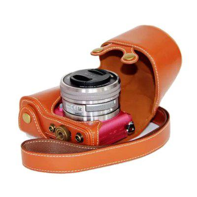 PU Leather Camera Case Bag for Sony A5100 A5000 ILCE-5100 16-50 Lens