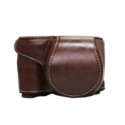 PU Leather Camera Case Bag for Sony ILCE-6300 A6300 A6000 16-50 Lens